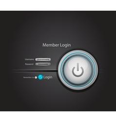 power login button vector image