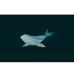 Whale logo Creative logo Sea logo Water logo vector image vector image
