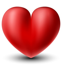 3d heart vector image vector image