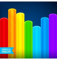 Bright rainbow colors plastic tubes equalizer vector image vector image