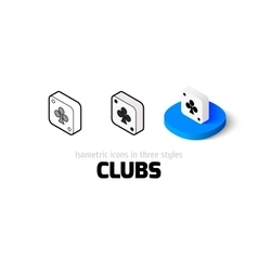 Clubs icon in different style vector image