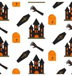 Halloween castle seamless pattern vector image vector image