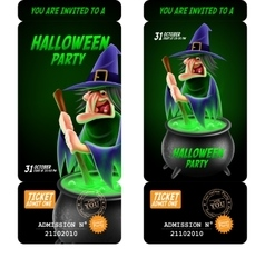 Halloween invitation flyer vector image