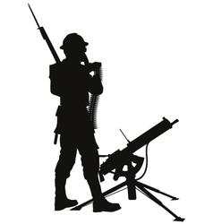 Mashine gunnerWarriors theme vector image