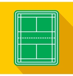 Tennis court flat icon vector image