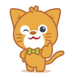character of cat pets collection vector image