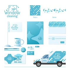 Corporate identity Cleaning service vector image vector image