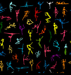 dancing people sketch for your design vector image