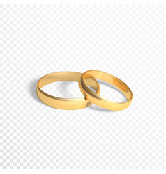 golden rings symbol of marriage two gold rings vector image