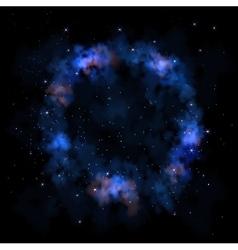 Sky galaxy stars nebula circle vector