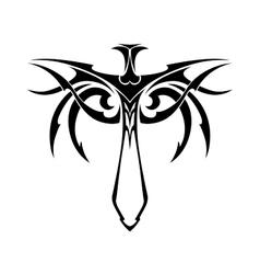 Tribal sword vector image