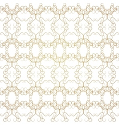 Vintage Seamless Gold Pattern Victoian vector image vector image