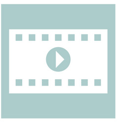 a frame from a movie the white color icon vector image vector image