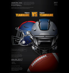 american football poster vector image