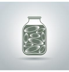 Cucumber jar vector image