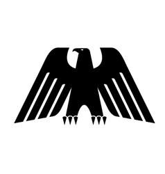 Heraldic black eagle vector image vector image