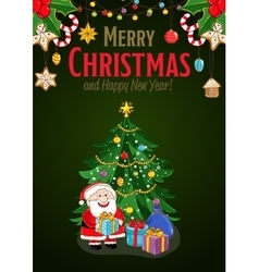 Merry Christmas and New Year Holiday Concept vector image vector image