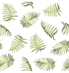 Topical palm leaves pattern vector image vector image