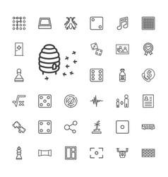 33 square icons vector