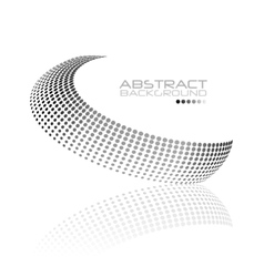 Abstract black and white swirl shape vector