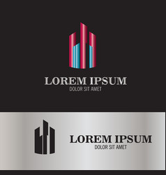 Abstract building tower logo vector