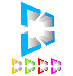 Abstract cross-hair reticle graphics generic 3d vector