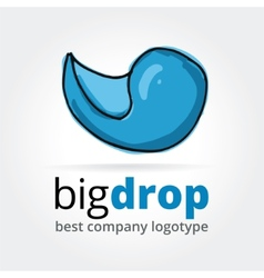 Abstract drop logotype concept isolated on white vector image