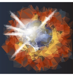 abstract explosion planet vector image