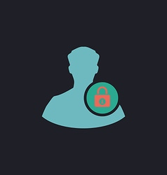 authenticate computer symbol vector image
