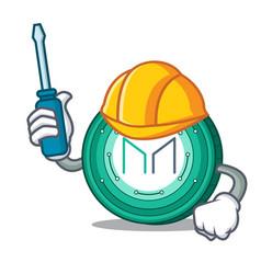Automotive maker coin mascot cartoon vector