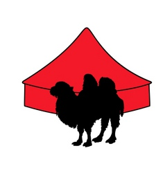 bactrian camel in circus vector image