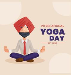 Banner design of international yoga vector