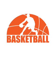 Basketball silhouette player vector
