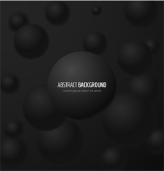 Black realistic sphere vector image