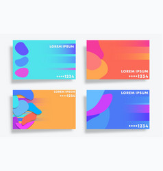 blob pattern design set for card banner flyer vector image