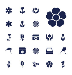 Blossom icons vector