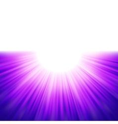 Burst of blue rays tenplate EPS 8 vector image