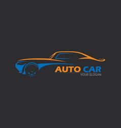 car logo emblems badges logo for service car vector image