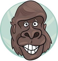 Cartoon illustration of funny gorilla ape vector
