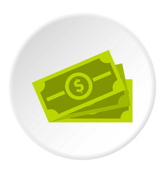 cash icon circle vector image