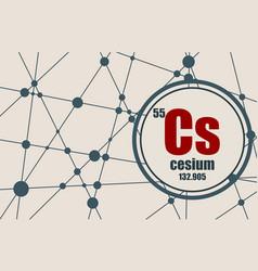 Cesium chemical element vector