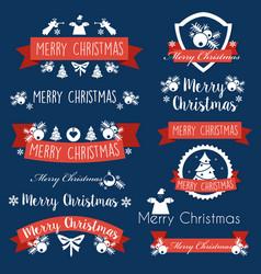 christmas celebratory banner vector image