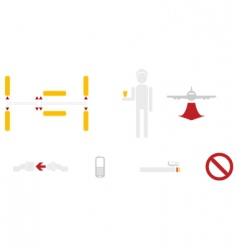 civil aviation icons vector image