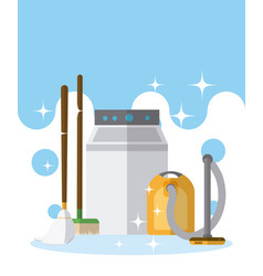 Cleaning kit and products vector
