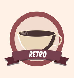 coffee shop retro shopping vintage label vector image