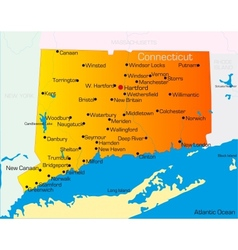 Connecticut vector image