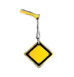 crane hook holding tools blank warnings image vector image