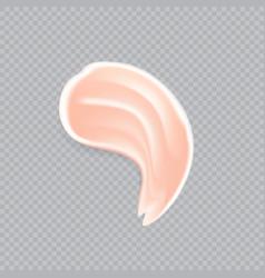 Cream concealer smear swatch vector