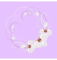 Decorative wreath with floral element vector image