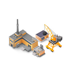 factory objects design background concept vector image